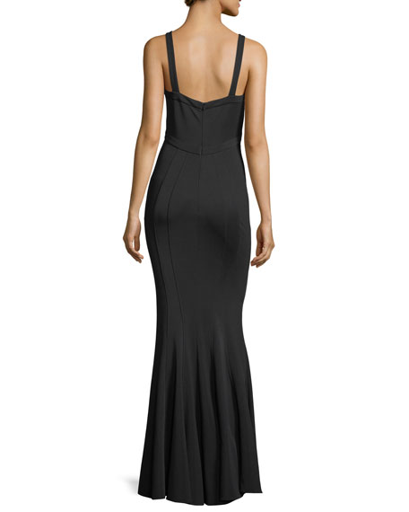 Gemma Mermaid V-Neck Sleeveless Gown
