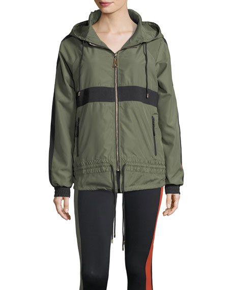 Man Down Zip-Front Hooded Utility Jacket