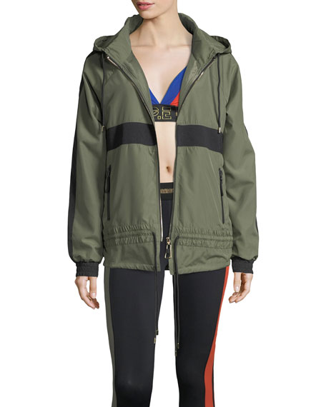 PE Nation Man Down Zip-Front Hooded Utility Jacket