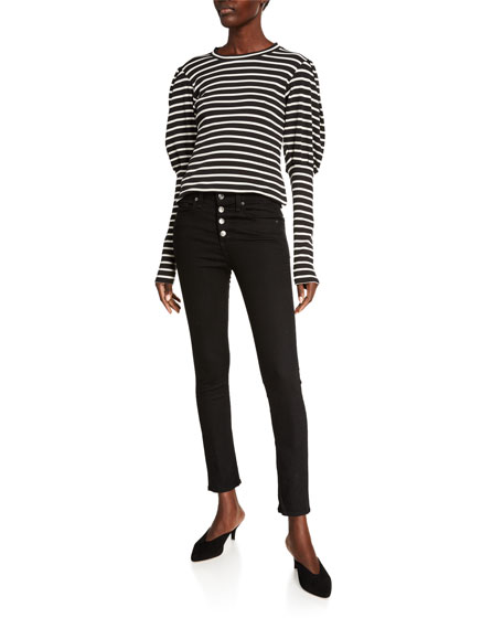 Image 3 of 3: Veronica Beard Jeans Debbie High-Rise Skinny Jeans