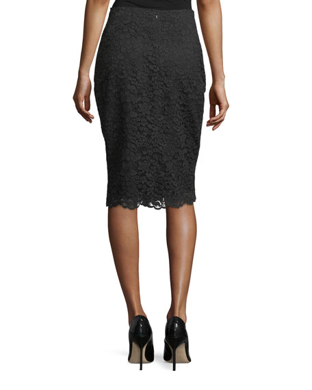 Knee-Length Lace Skirt