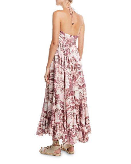 Kali Hawaiian Long Linen Coverup Dress