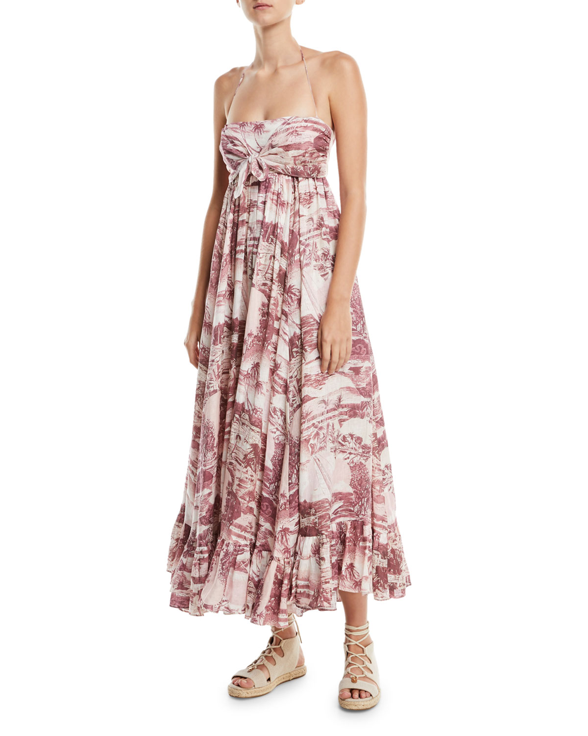 64e7476597 Zimmermann Kali Hawaiian Long Linen Coverup Dress
