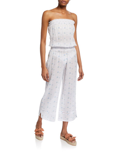 Vedra Smocked Coverup Jumpsuit