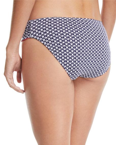 Petals of Paradise Reversible Side-Shirred Hipster Swim Bikini Bottoms