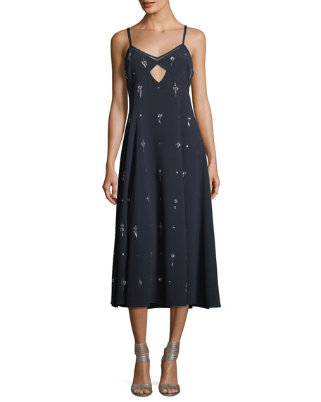 Derek Lam 10 Crosby V-Neck Sleeveless Embellished Cami