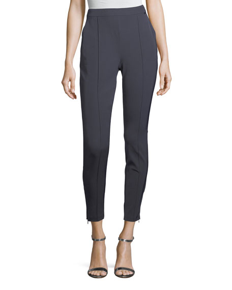 St. John Collection Stretch Twill Cropped Leggings