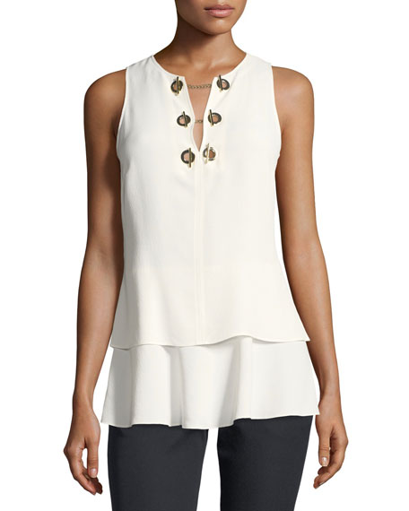 Derek Lam 10 Crosby Sleeveless Silk Top with