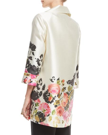 Caroline Rose Plus Size Flower Girl Open-Front Party Jacket