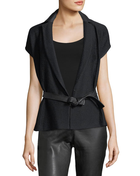 Hannah Self-Tie Short-Sleeve Jacket
