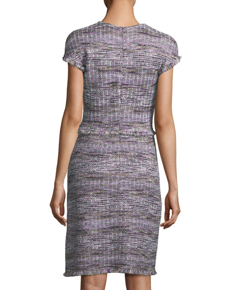 Anna Woven-Stripe Knit Dress
