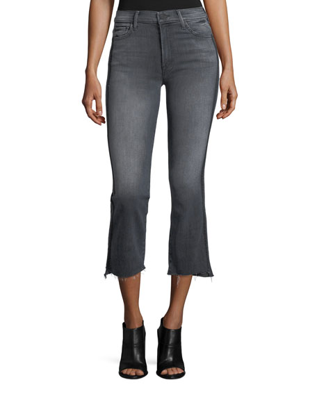 MOTHER Insider Crop Step Fray Jeans with Side