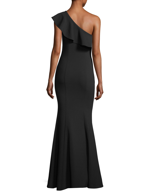 Likely Kane Asymmetric Ruffle Mermaid Gown | Neiman Marcus