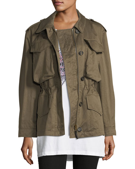 Burberry Portwell Four-Pocket Military Jacket