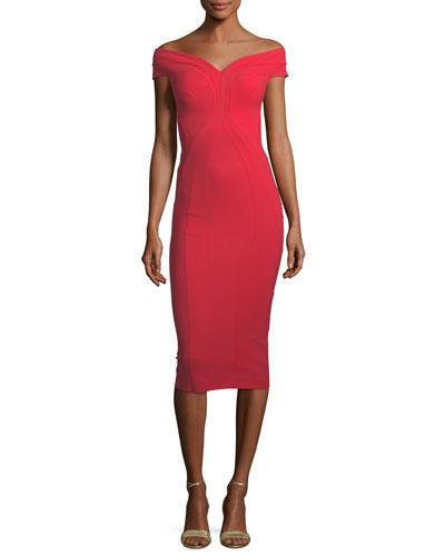 Gena Off-the-Shoulder Sheath Dress