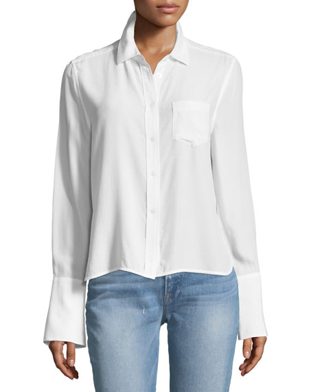Huntley One-Pocket Short Silk Shirt