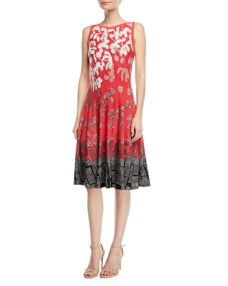 Terrace Twirl Sleeveless A-Line Dress, Plus Size