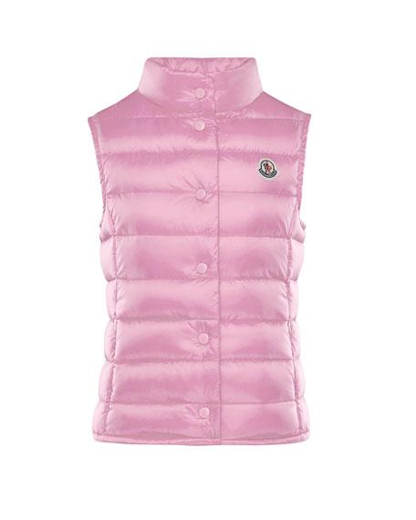 Moncler Liane Down Lightweight Down Puffer Vest, Pink,