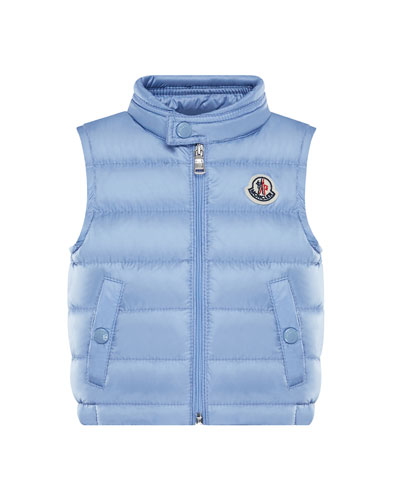New Amaury Puffer Vest, Medium Blue, Size 12M-3Y