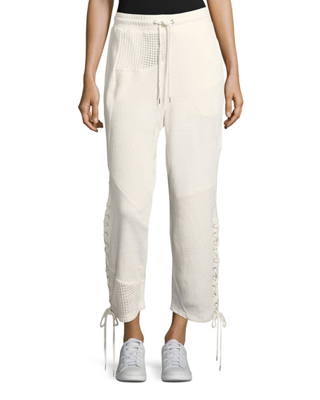 McQ Alexander McQueen Patch Drawstring Boyfriend Cotton Jogger