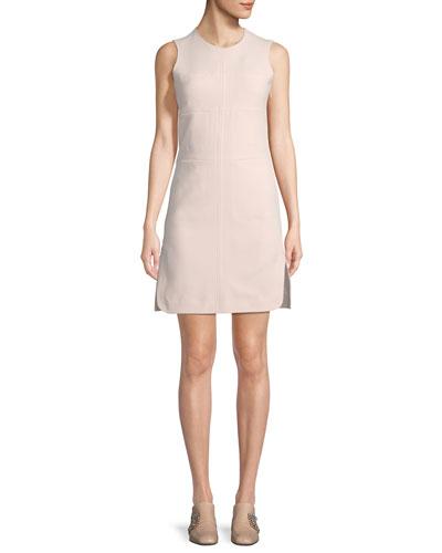 Sleeveless Paneled Stitching A-Line Dress