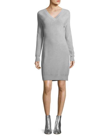 GREY Jason Wu Long-Sleeve Back-Tie Sweater Dress