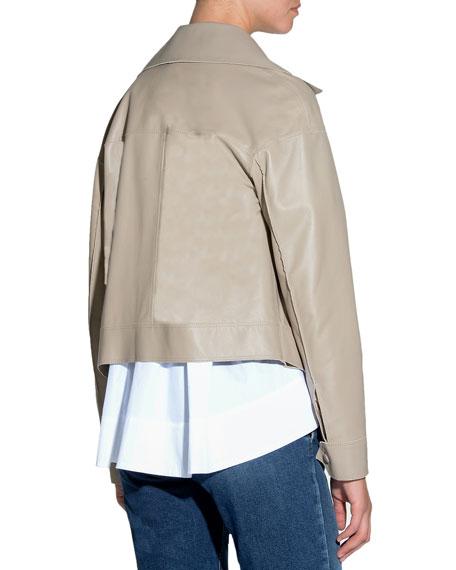Smooth Leather Moto Jacket