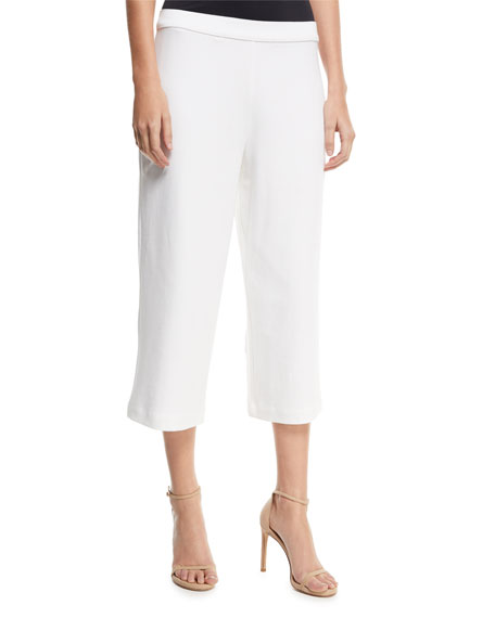 Joan Vass Cropped Wide-Leg Pants