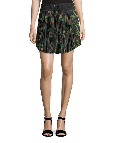 Scout Pleated Printed Mini Skirt