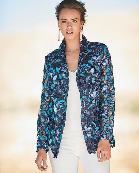 Provence Floral Lace Jacket, Petite