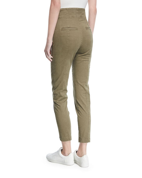 Kingsley High-Waist Lace-Up Skinny Pants