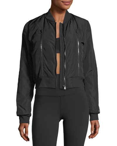 Off-Duty 2 Zip-Front Bomber Jacket