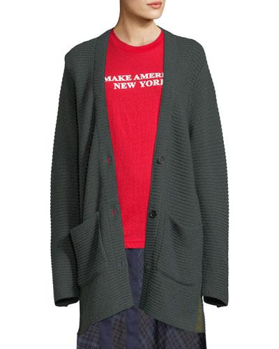 Fleta Knit Wool-Blend Cardigan Sweater