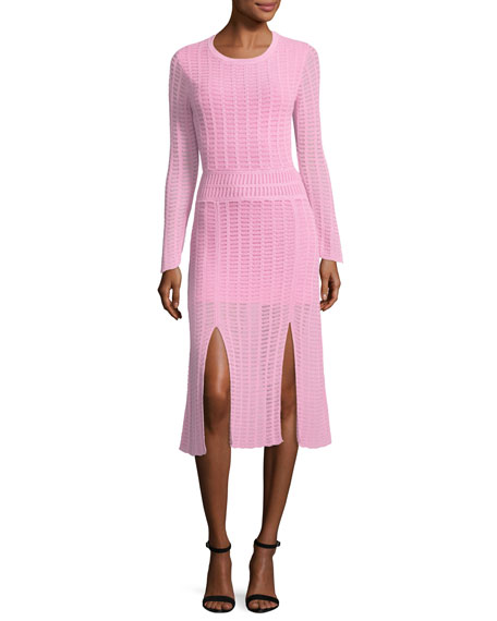 Mineras Crewneck Knit Fitted Dress