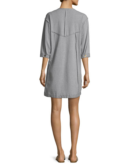 Palma French Terry Cotton Dress, Plus Size