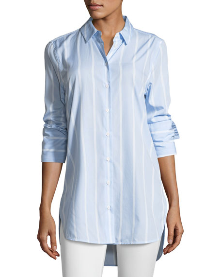 Equipment Arlette Pencil-Striped Poplin Shirt