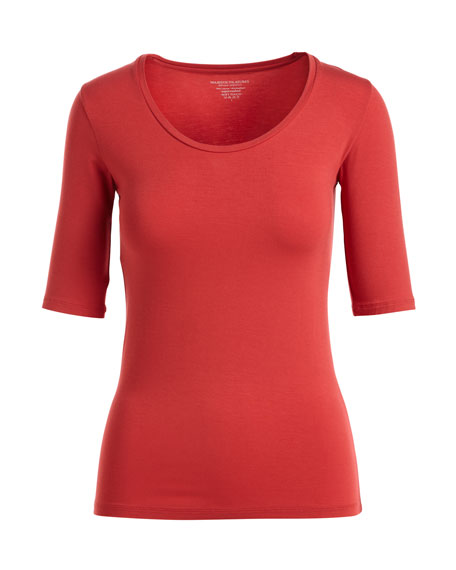 Half-Sleeve Soft-Touch Top