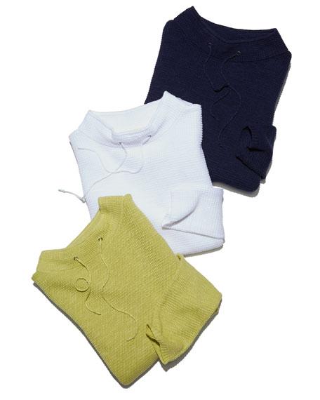 Grid-Knit Self-Tie Box Top