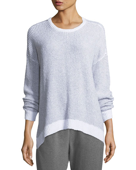 Peruvian Organic Cotton Boucle Long-Sleeve Top