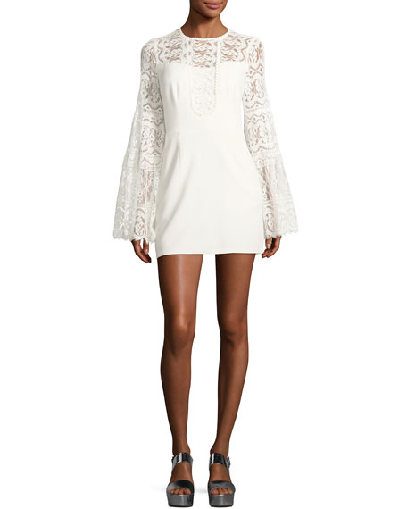 Nanette Lepore Spanish Dancer Lace Mini Dress