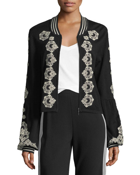 Beso Embroidered Bomber Jacket