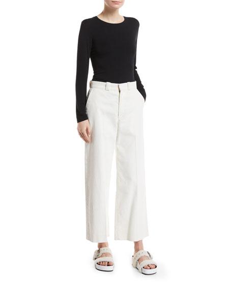 Lari High-Rise Wide-Leg Corduroy Pants
