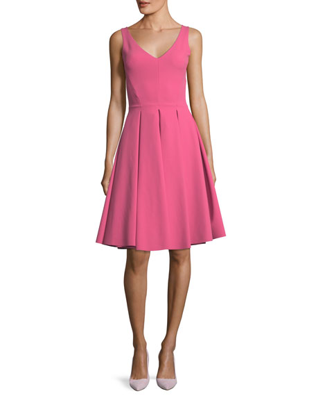 Corie V-Neck Fit & Flare Sleeveless Cocktail Dress