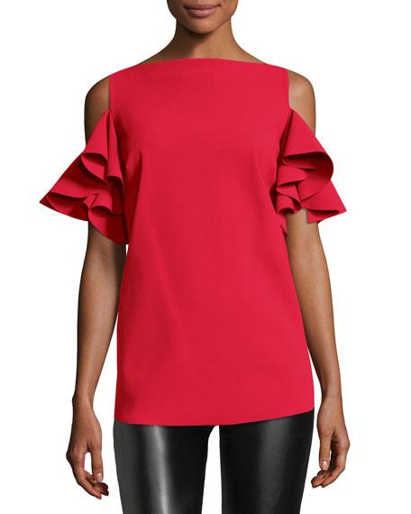 Chiara Boni La Petite Robe Tatina Ruffle Cold-Shoulder