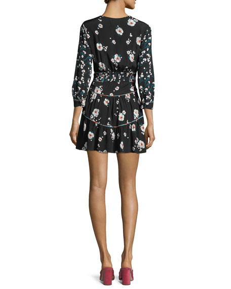 Beli V-Neck Floral-Print Mini Dress