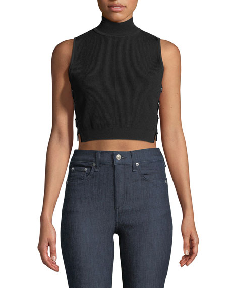 Cushnie Et Ochs Aria Mock-Neck Crop Top