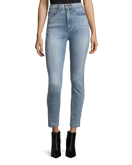 AO.LA High-Rise Ankle Skinny Jeans