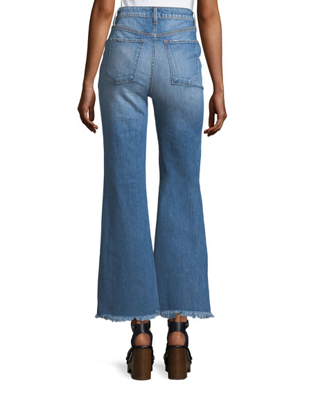 High-Rise Flared-Leg Jeans