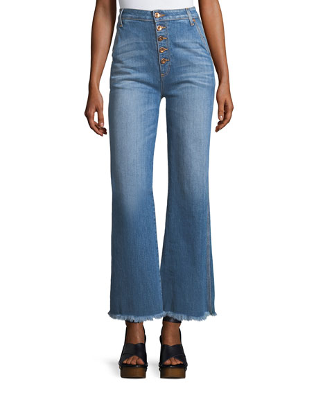 AO.LA by Alice+Olivia High-Rise Flared-Leg Jeans