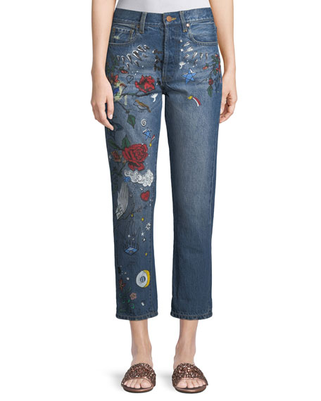 AO.LA Amazing High-Rise Ankle Girlfriend Jeans